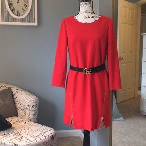 J Crew shift dress with zipper detailing